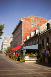 Street scene of Old Montreal Stock Photos