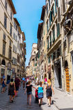 Street scene in the old town of Florence, Italy Stock Photography