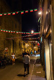 Street scene in the old town of Florence Stock Photography