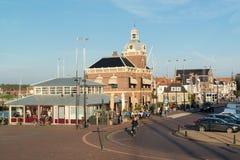 Street scene in old town of Harlingen, Netherlands Stock Photo