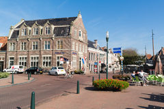 Street scene in old town of Harlingen, Netherlands Royalty Free Stock Photos