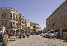 Street scene in old town of Jerusalem Stock Photography