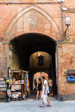 Street scene in the old town of Siena, Italy Stock Photography