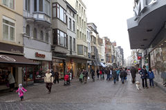 A street scene in Ostend, Belgium Royalty Free Stock Photos