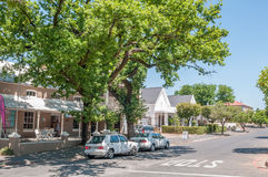 Street scene in Paarl Royalty Free Stock Photos