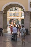 Street scene in Palma De Mallorca Spain stock image