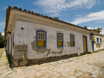 Street scene, Paraty, Brazil. Old Building in historic town of Paraty, Brazil Stock Photos