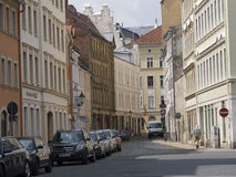 Street Scene with Parked Cars in Gorlitz, Germany Stock Photo
