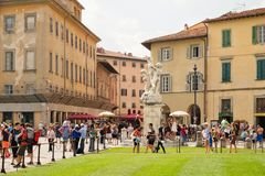Street scene in Pisa next to Piazza del Duomo Stock Image