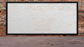 Street scene with Red brick wall and billboard Royalty Free Stock Photography