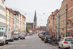 Street scene in Regensburg (Germany). Stock Image