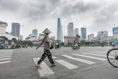 Street scene Saigon, Ho Chi Min City. Stock Images