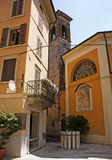 Street scene in Salo town on Lake Garda Royalty Free Stock Photo