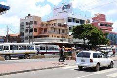 Street scene of Santa Cruz city in Bolivia Royalty Free Stock Image