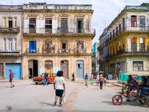 Street scene in a shabby street in Havan Royalty Free Stock Photo