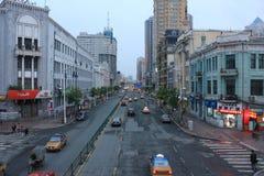 The street scene. The shangzhi street scene in harbin Stock Images