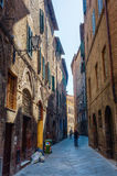 Street scene in Siena, Tuscany, Italy Royalty Free Stock Photo