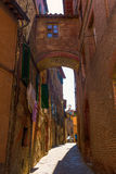 Street scene in Siena, Tuscany, Italy Royalty Free Stock Images