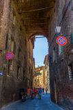 Street scene in Siena, Tuscany, Italy Royalty Free Stock Photos