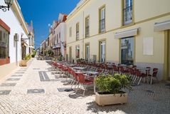 Street Scene, Silves, Portugal Royalty Free Stock Photography
