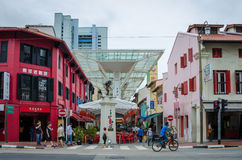 Street scene in Singapore's Chinatown Stock Image