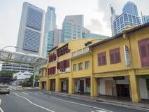 Street scene in Singapore's Chinatown. Royalty Free Stock Photos