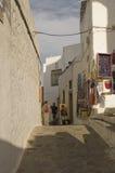 Street scene in Skala, Greece Stock Photography
