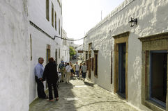 Street scene in Skala, Greece Stock Photos