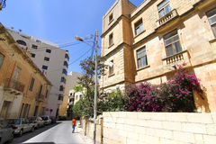 Street scene in Sliema Stock Photos