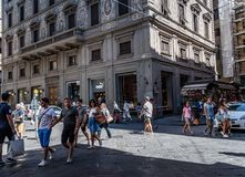 Street scene in Square in Florence stock photos