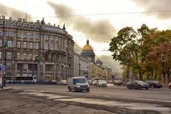 Street scene in St Petersburg. Stock Image