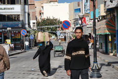 Street scene in  town egypt Stock Photos