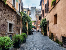 Street scene from Trastevere district of Rome Stock Image
