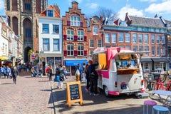 Street scene in Utrecht, Netherlands Royalty Free Stock Photos