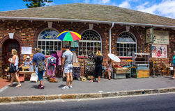 Street scene with vendors Royalty Free Stock Photography