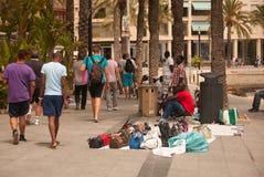 Street scene with vendors Stock Photo