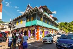 Street scene in Victoria, Seychelles, Indian Ocean, East Africa. Royalty Free Stock Image