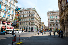 Street Scene in Vienna Stock Photography
