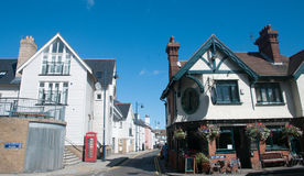 Street scene in Whitstable town. A scene at Whitstable in Kent Stock Photos