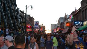 Street Scene on the World Famous Historic Beale Street Royalty Free Stock Photography