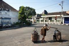 Street scene in yogyakarta indonesia Stock Images