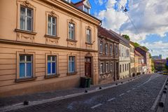 Street scene in Zagreb, Croatia. Royalty Free Stock Images