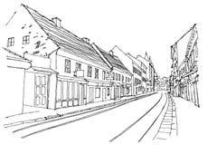Street scene in Zagreb, Croatia. Royalty Free Stock Image