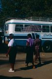 A street scene in Zimbabwe. Royalty Free Stock Images