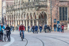 Street scenery in Bremen, Germany Stock Photos