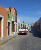 Street scenery in Campeche Stock Photography