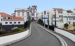 Street scenery at Ponta Delgada Royalty Free Stock Images