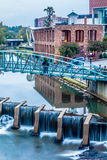 Street scenes around falls park in greenville south carolina Royalty Free Stock Images