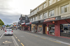 Street scenes and business district of Queenstown, south island of New Zealand Royalty Free Stock Photo