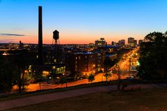 Street scenes from Libby Hill Richmond Va in the evening stock images